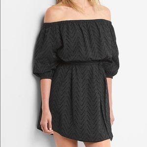 Gap Eyelet Off The Shoulder Dress NWT